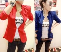 New Womens Korea Fashion Metal Collar Slim Shrug Blazer Coat 5 Colors E604