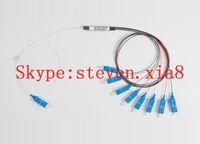 Free Shipping, PLC Fiber optic splitter, 1 x 8, SC/LC  Connector, PLC Splitter