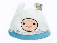 Retail New!! FINN Cartoon Network Adventure Time JAKE and FINN Plush cap cosplay hat blue Anime Free Shipping