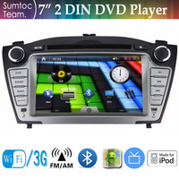 7 Inch HD Touch Screen Hyundai IX35 2 Din Car DVD Player USB IPOD,GPS,Bluetooth,WIFI,3G,Analog TV,FM/AM Stereo RDS Touch Screen