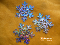 65mm snowflake sequins, PVC glitter, laser sequins, Christmas decorations, theatrical, costume sequins, free shipping