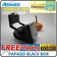 Papago P1W Car DVR Full HD Registrar Dash Camera Driving Recorder 2.4inch+120 Degree Wide Angle Singapore Post Free Shipping
