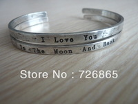 2 PCS Fashion I LOVE YOU To The Moon And Back Bangle Birthday Gift Bangle Min.order is $10 (mix order)Free Shipping