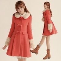 2013 overcoat women's woolen overcoat slim medium-long woolen outerwear winter female