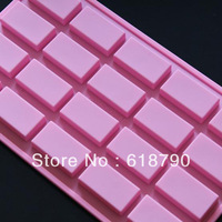 Silicone Ice Cube Silicone cake molds 20 even Square  jelly pudding mold  Free shipping