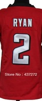 new Free Shipping  American football jersey 2 Matt Ryan white/red youth/kid's boy football Fashion Football Jersey