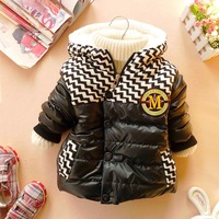 Wadded jacket cotton-padded jacket baby winter male female child clothing autumn and winter thickening outerwear cotton-padded