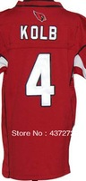 Free Shipping  American football jersey  #4 Kevin Kolb white/red youth/kid's boy football Fashion Football Jersey