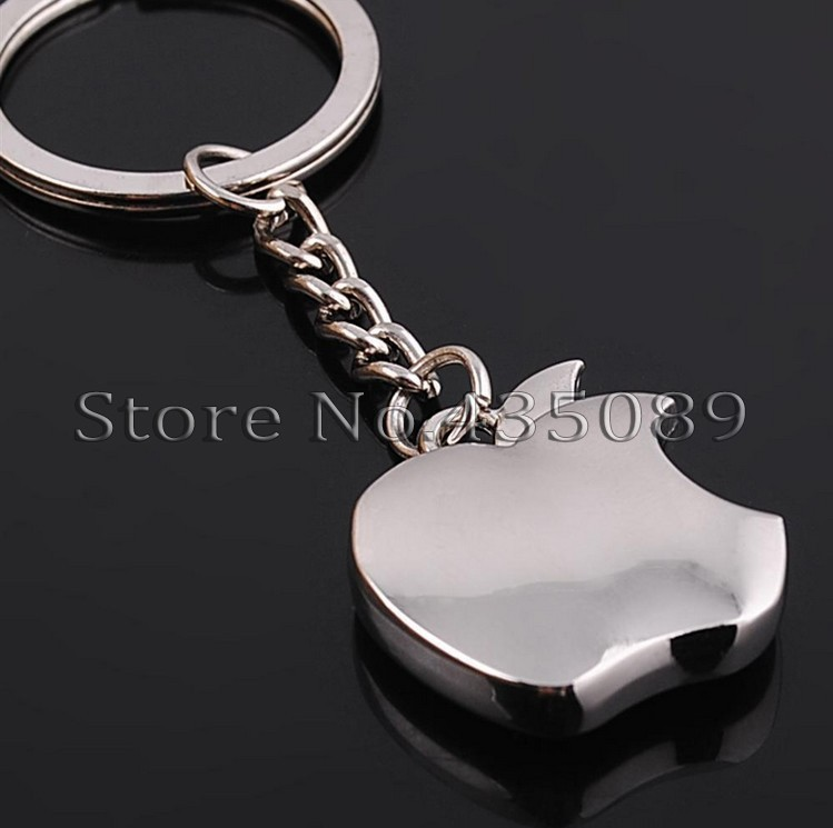 Jewelry Creativity Zinc Alloy keychains High imitation Apple Key chain sports trinket key ring clip(China (Mainland))