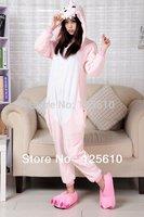 Pink Dinosaur All in One Pyjama Animal Suits Cosplay Costumes Cute Cartoon Animal Onesies Sleepwears by0041 pig S M L XL