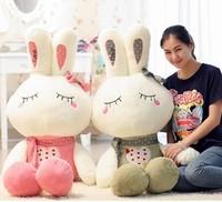 Free shipping rabbit plush toy big size Christmas gift rabbit soft toy  100cm