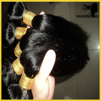 100% virgin brazillian straight  human bulk hair extensions,4 bundles lot,queen hair products,grade 5a,free shipping