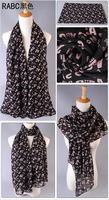 Free shipping 2013 autumn and winter scarf women's velvet chiffon air conditioning cape abc letter scarf