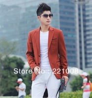 Male casual suit fashion trend slim blazer white pink multicolour spring and autumn outerwear free shipping