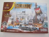 Ausini Assembling building blocks pirate series skull n27502 DIY kids enlighten toys for children gift