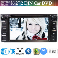 6.2 Inch TOYOTA Corolla EX 2004-2008 2 Din Car DVD Player With GPS Navigation,IPOD,Bluetooth,WIFI,TV,FM/AM Stereo Radio RDS