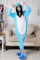 Elephant pajamas Coral fleece sleepwear  cartoon animal Pajama /one lounge lovers autumn and winter thickening by0044 S M L XL