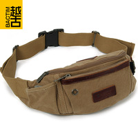 Simple fashion the men's purses canvas belt decoration chest pack outdoor leisure sports bag wear stereo pockets