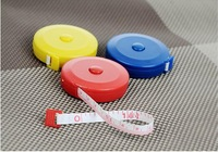 Telescopic type tape fine candy color plastic tape leather ruler