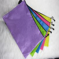 Huajie colorful - a4 linen edge bags edge bags bulbiform zipper bags thickening file bag