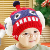 Robot baby children winter hats cap caps head shape Optional multi-color super soft and comfortable Meng super cute