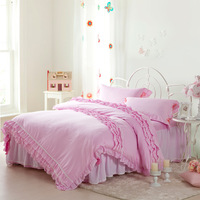 F&C 100% powder sweet cotton bedding set home textile piece wind