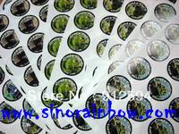 Custom printed round label stickers