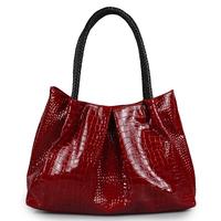 Wpkds women's handbag 2012 casual crocodile pattern women's japanned leather handbag bag