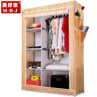 Simple wardrobe folding Large steelframe combination wardrobe Belt cloth wardrobe cabinet  fabric storage wardrobe