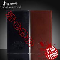 Commercial genuine leather casual male wallet male long design wallet men's wallet multi card holder wallet