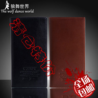 Commercial genuine leather casual male wallet male long design wallet men's wallet multi card holder wallet