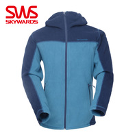 Sws men's fleece clothing autumn and winter spring outside sport with a hood windproof thermal outerwear