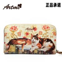 2013 new arrival women's handbag sweet cartoon print day clutch bag fancy female wallet vintage illustrated design wholesales