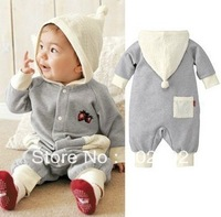 2013 autumn Grey Strawberry Jumpsuit / Baby  Romper / baby clothes jumpsuit . FREE SHIPPING