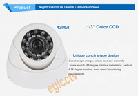 Color 420TVLCCD  Indoor IR Color CCTV Dome Security Camera E-IR27SL