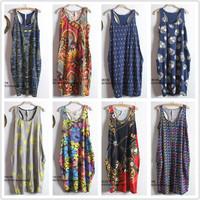 casual long dress 2 summer one-piece dress female loose casual basic tank dress suspender  beach dress