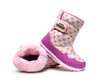 Winter boots child snow boots plus wool warm boots girls shoes big cotton-padded shoes size:27-39