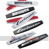 50pcs ABS Matt Balck Chrome Side Grill B Loer Emblem Badges 98x12mm