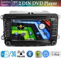 7 Inch HD Touch Screen VW Golf 2 Din Car DVD Player WINCE GPS ,IPOD,Bluetooth,WIFI,TV,FM/AM Stereo Radio RDS 3D Map