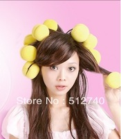 magic beauty strawberry Red volumes serve  hair curler sponge volumes serve  pear head kinkiness ball hair roller 9198