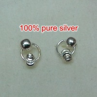 Fashional rhinestone 100% Stud Earrings silver 925