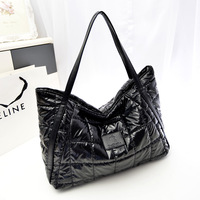 Hot-selling winter 2013 space bag down feather handbags women big bag women's shoulder bag bolsas free shipping