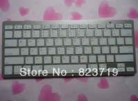 10pcs New Bluetooth Wireless White Keyboard for ipad 2 3 4 ipad mini with retail box , Free shipping by FEDEX