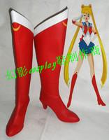 Sailor Moon Tsukino Usagi cosplay Boots Shoes Custom Made for Christmas Halloween