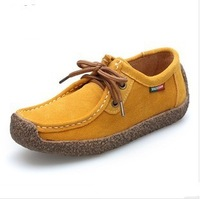 2013 new high quality genuine leather woman velvet cotton-padded shoes business casual high-top shoes