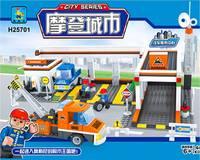 Ausini Car Service Station 25701 Building Blocks Sets 443pcs Legoland Educational DIY Bricks Toys For Children; FREE SHIPPING