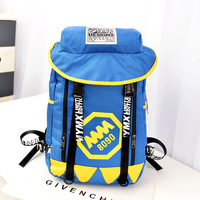 Preppy style canvas backpack middle school students school bag general backpack double sided travel bag women's handbag