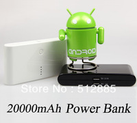 10 pcs/lot good quality power bank, 20000mah mobile power with new retail packing !
