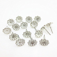 CPAP Free shipping crazy promotion  wholesale  36 pairs  a lot  zinc alloy metal white daizystud earrings
