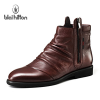 High quality 2013 casual male boots male boots high fashion leather trend boots denim boots